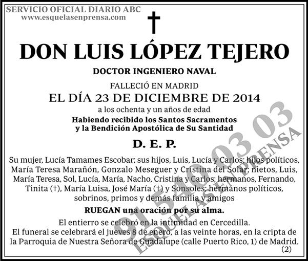 Luis López Tejero